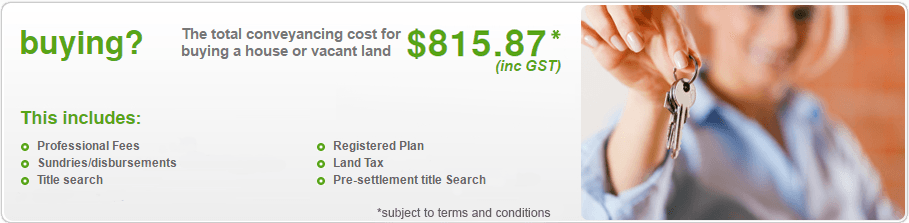 Total Conveyancing Cost for Buying a House or Vacant Land - Moreton Bay QLD
