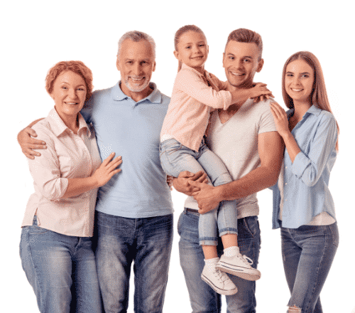 Happy family of five working with Brisbane Conveyancing in selling properties as invesments